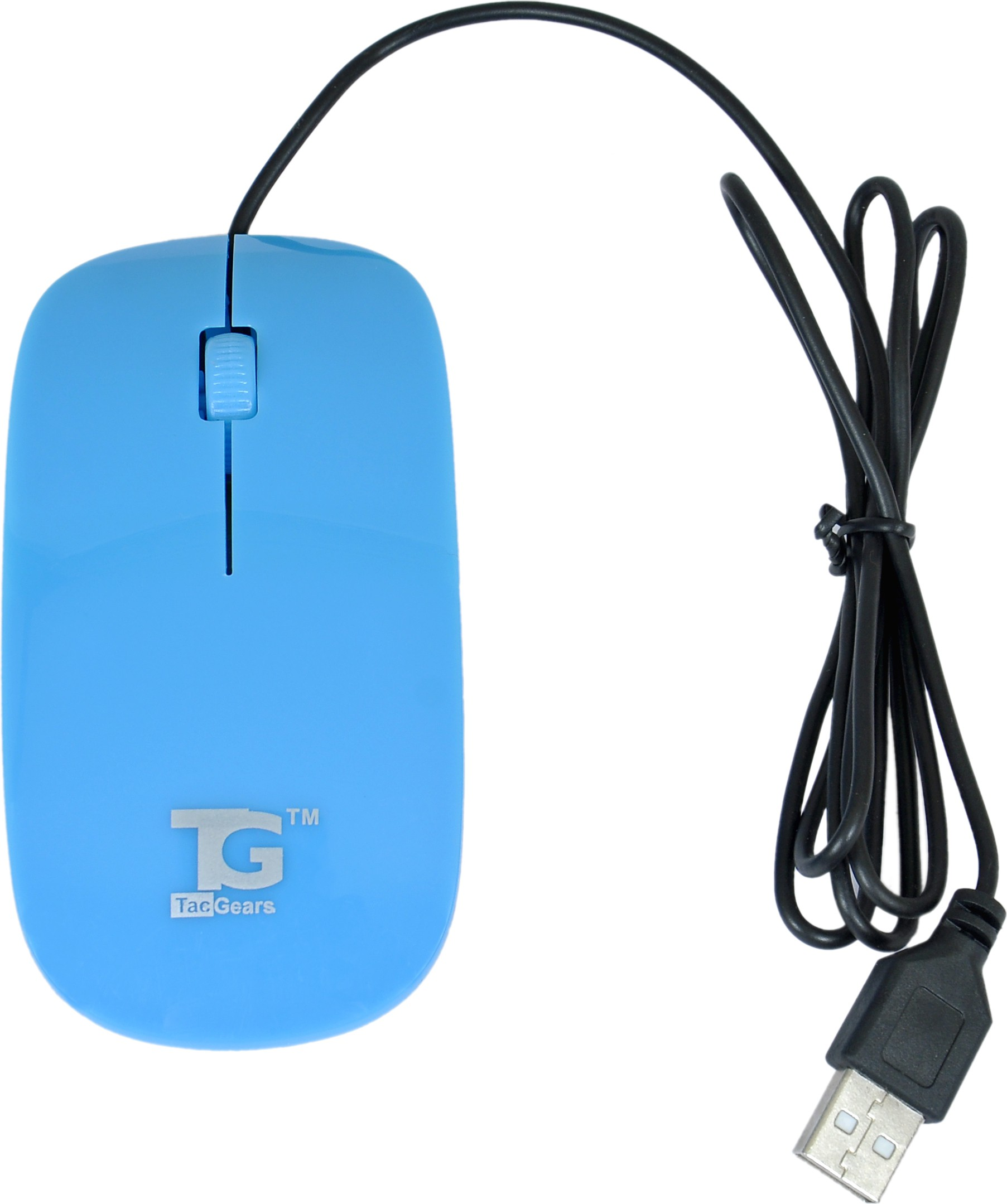 TacGears TG-6004s Wired Optical Mouse Gaming Mouse(USB, Blue) image