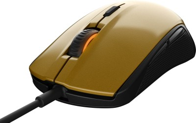 Steelseries Rival 100 Wired Optical Gaming Mouse(USB, Alchemy Gold)