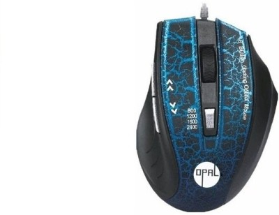 Opal USB Wired 6 button mouse Blue Wired Optical Mouse