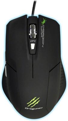 Dragon War Dragunov Blue Sensor with Mouse Mat Wired Laser Mouse Gaming Mouse(USB, Black)