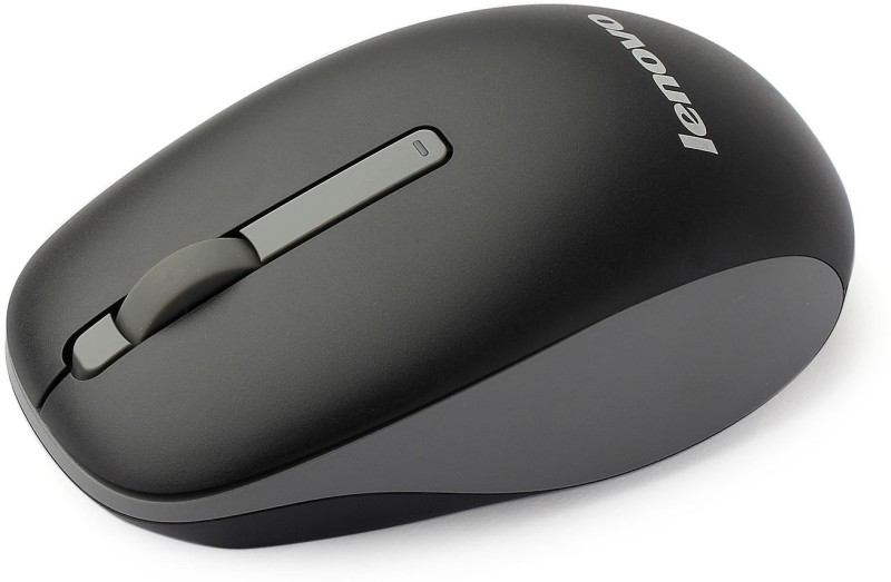 Lenovo N100 Wireless Optical Mouse(USB, Black)