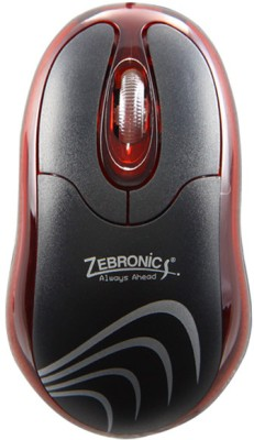 Zebronics Petal Red Wired Optical Mouse