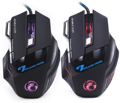 Estone Professional 7 Button 5500 DPI LED USB G Wired Optical Mouse Gaming Mouse