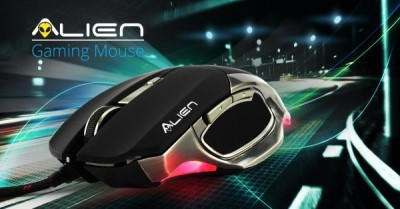 Zebronics Alien Wired Optical Mouse Gaming Mouse(USB, Black)