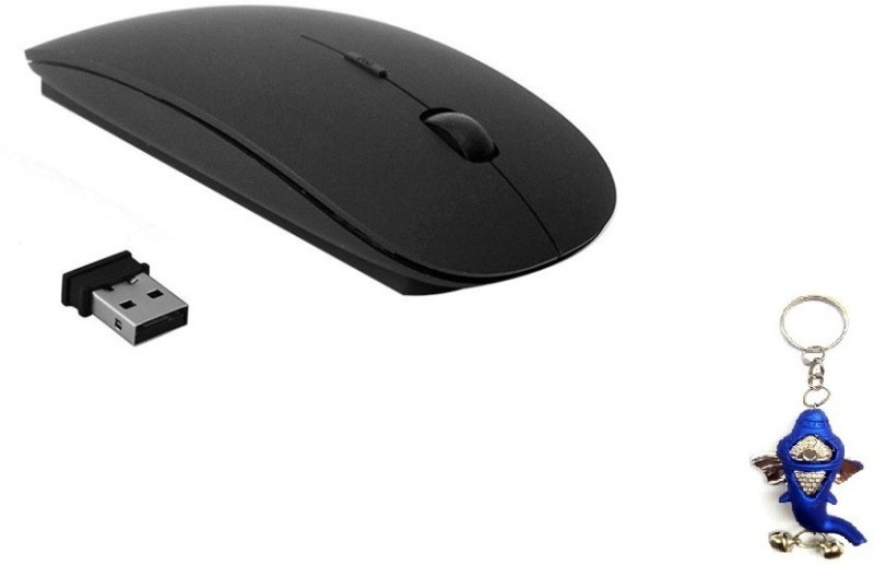 Terabyte Ultra Slim Black Wireless Optical Mouse(USB, Black)