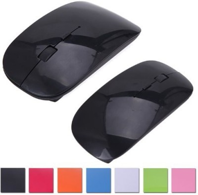 HDE HDE-H125 Ergonomic Curved Wireless 2.4GHz Optical Slim Mouse with DPI Switch Wireless