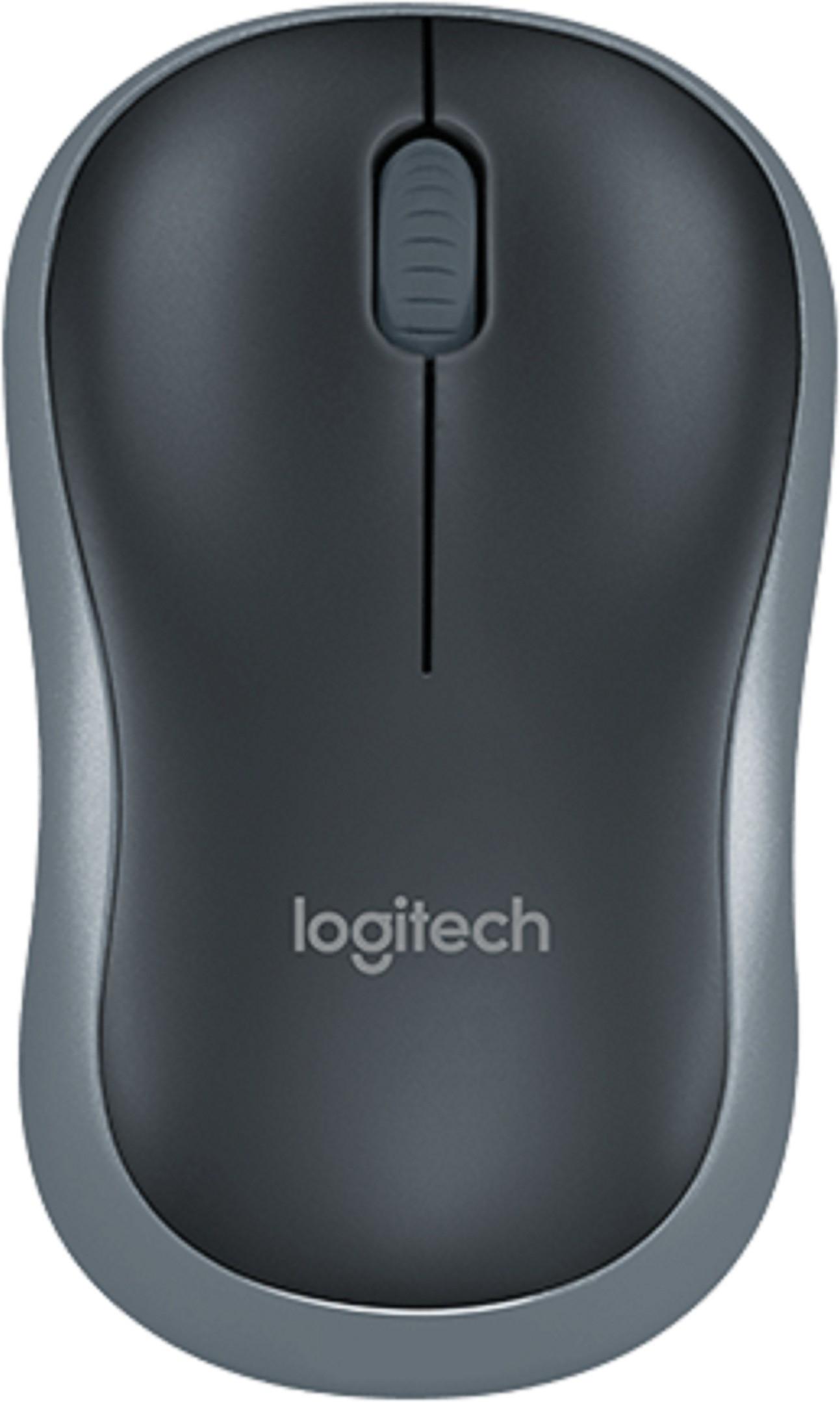 Logitech M185 Wireless Optical Mouse(USB, Grey) image