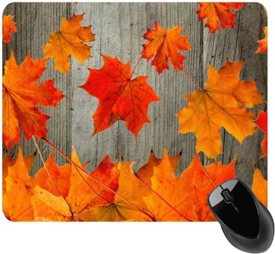 BSEnterprise Wood With Leaves Mousepad