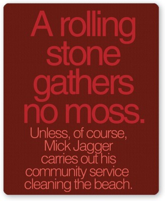 PosterGuy Rolling Stones Mick Jagger Music And Rock Legends Mousepad