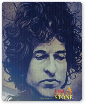 PosterGuy Like a Rolling Stone Bob Dylan Blue Mousepad