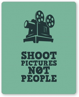 PosterGuy Shoot Pictures Not People Minimalist Illustration Mousepad