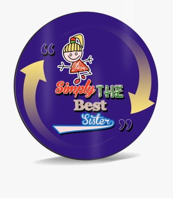 SKY TRENDS Sky Trends Simply The Best Sister,, With Dark Violet Shade Arrow Gifts. Mousepad
