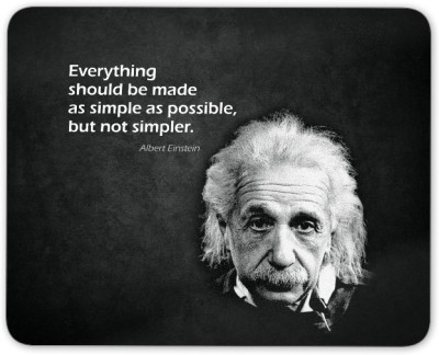 Digiclan Albert Einstein Mouse Pad Mousepad
