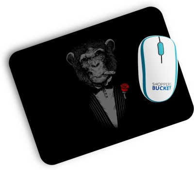 Shoppers Bucket Monkey Business Mousepad
