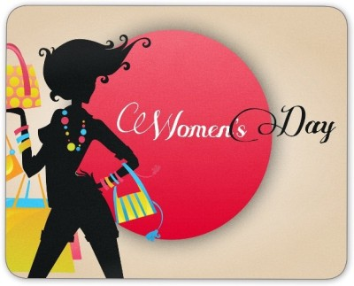 Digiclan Shopping women Mouse Pad Mousepad