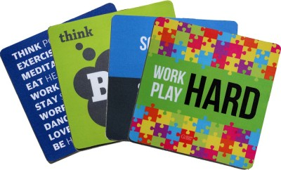 QuoteSutra Collection For Startup & Entrepreneurs to Inspire & Motivate Set Of 4 Mousepad