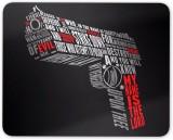 Digiclan Unique Pistol Mousepad (Multico...