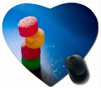 awwsme Colourful Toffee In Heart Mousepad