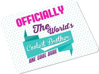 SKY TRENDS Officially The World's Coolest Brother One Cool Dude With Floral Sweet Gifts For Birthday And Anniversary Rectangle Mousepad