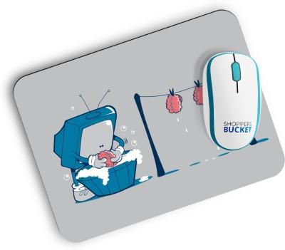 Shoppers Bucket Brain Wash Mousepad