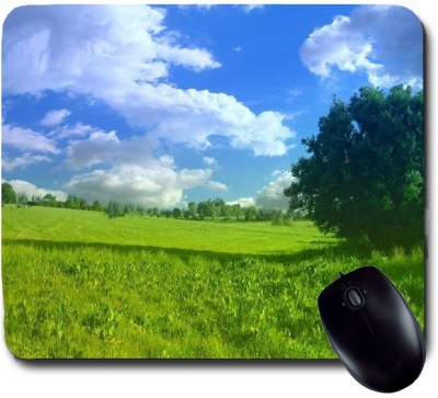 Awwsme Field And Sky Meeting Together Mousepad