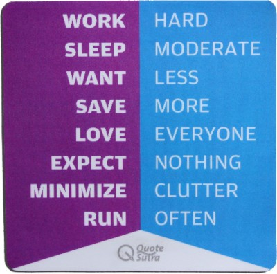 QuoteSutra Life sutra 2 Mousepad