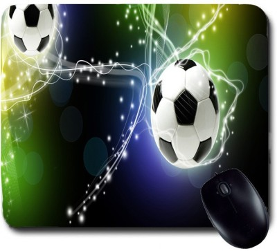 Awwsme Two Football With White And Black Spots Mousepad
