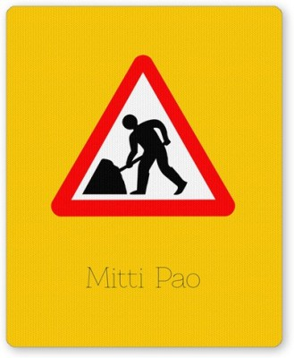 PosterGuy Mitti pao | Road Signs For Punjabis Mousepad