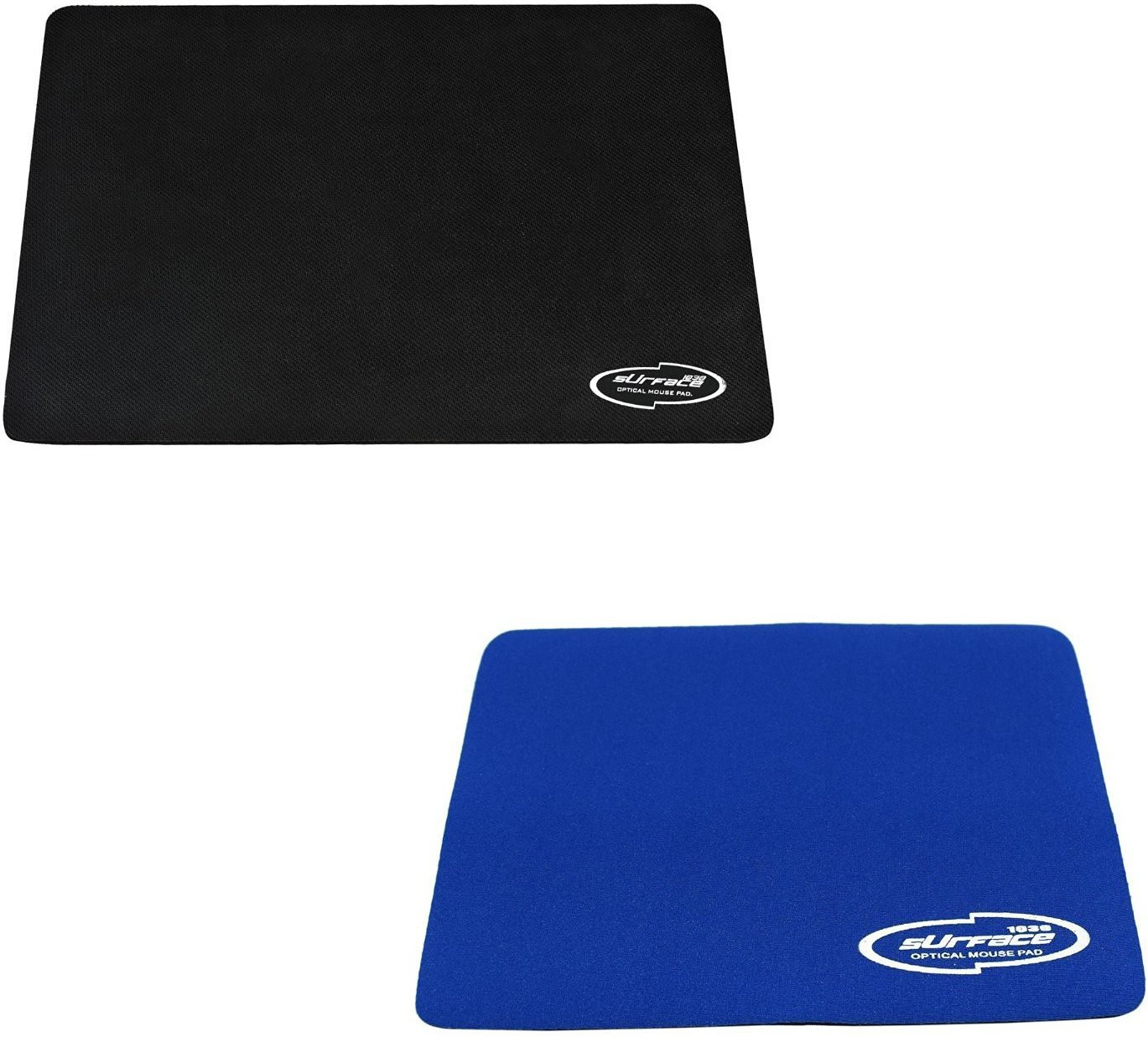 Storite Combo of 3mm Thickness Speed Rubber Mousepad(Black&Blue)