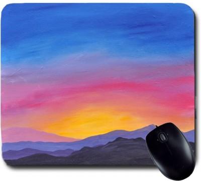 Awwsme Rising Sun Handmade Painting Mousepad