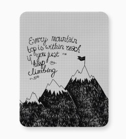 PosterGuy Every Mountain Is Within Reach If You Keep Climbing Mousepad