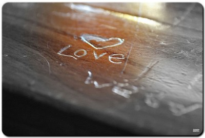 Shoprock Love Engraved Mousepad