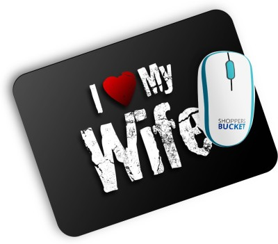 Shoppers Bucket Love My Wife Mouse Pad Mousepad