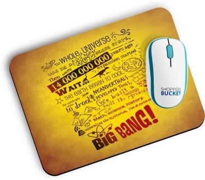 Shoppers Bucket Big Bang Mousepad Mousepad