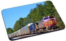 Magic Cases IE2S4ZMYD World Wide Trains Design 1576 Mousepad(Multicolor)