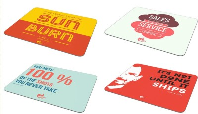 Thinkpot If you want to shine + Sales go up & down + It's not done + You miss 100% - Mousepad ( Set of 4) Mousepad