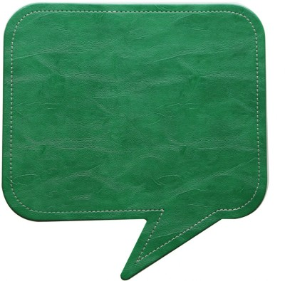 Random in Tandem Speech Bubble Green Mousepad(Green)