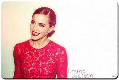 Shoprock Emma Watson Red Dress Mousepad