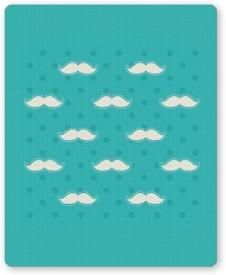 PosterGuy Moustache Quirky Pattern Mousepad