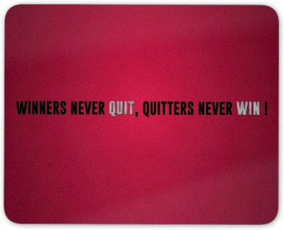 Digiclan Wnners never Quit Mouse Pad Mousepad
