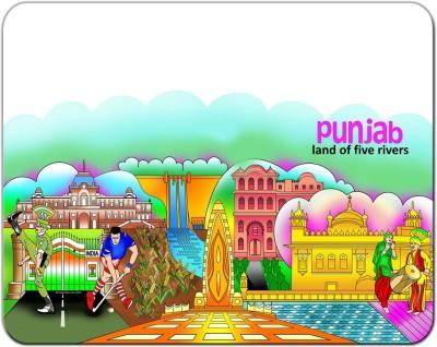 Indiavibes Punjab Theme Designer Mousepad