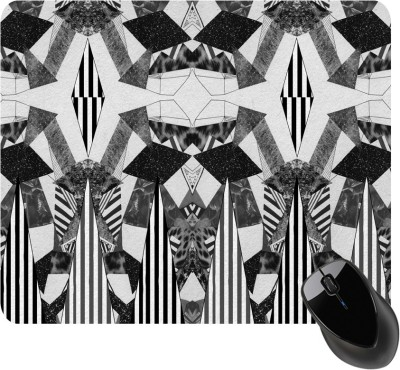 BSEnterprise Black And White Mousepad
