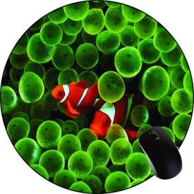 Printland Green Bubbles Round MPR1030 Mousepad