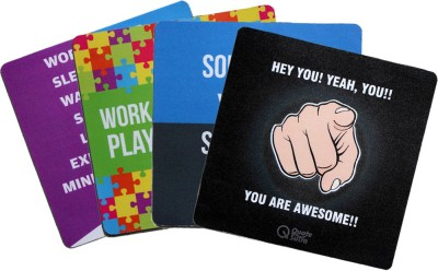 QuoteSutra Collection To Inspire & Motivate Set Of 4 Mousepad