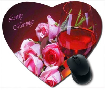Awwsme Beautiful Roses Heart Mousepad