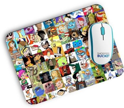 Shoppers Bucket Cartoon Family Mousepad