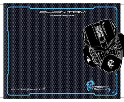 Dragon War Phantom Gaming Mouse Mat (XXL size) GP-002 Mousepad(Black)