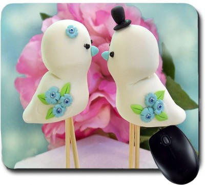 Awwsme Two Birds Statue Or Toy Mousepad