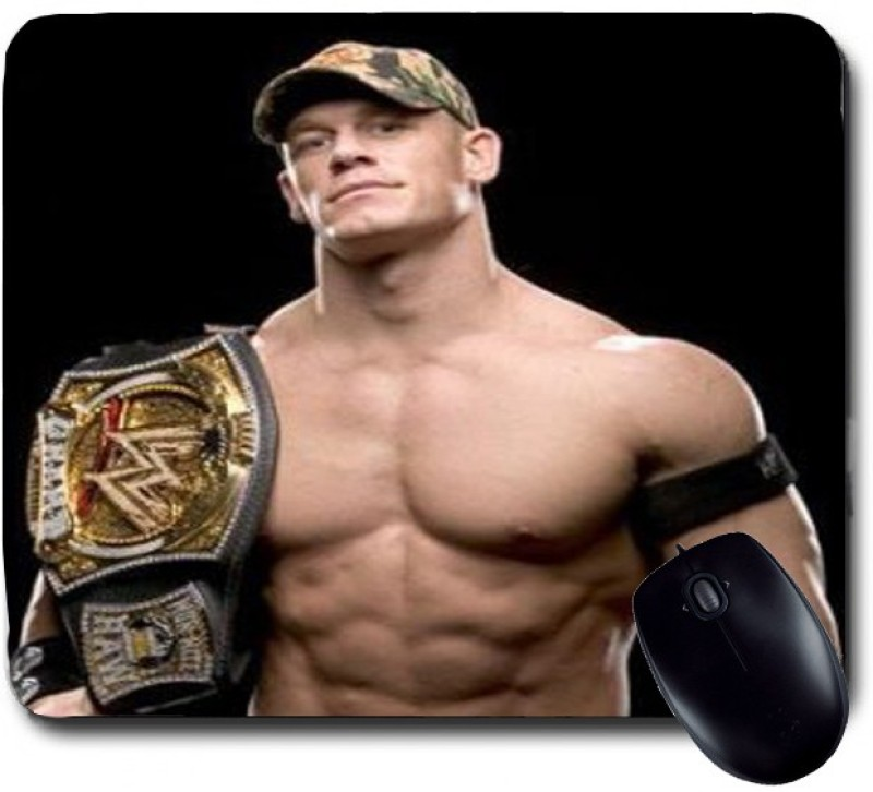 Awwsme John Cena Wearing Cap And Belt Mousepad(Multicolour)