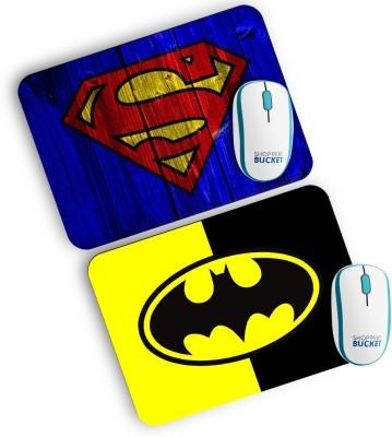 Shoppers Bucket SuperHero Combo Mousepad